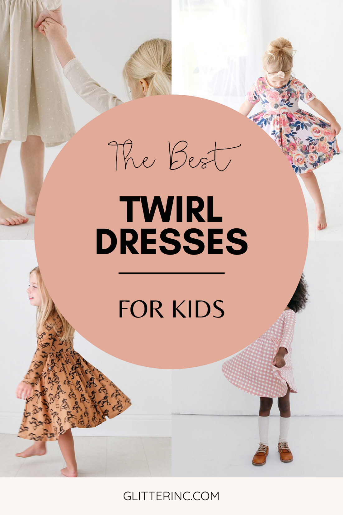 If you have a little girl who loves a great twirly dress, this post is for you! Sharing where to find the very best twirl dresses; a.k.a., skater dresses, spin dresses, or swing dresses, for kids. | glitterinc.com | @glitterinc