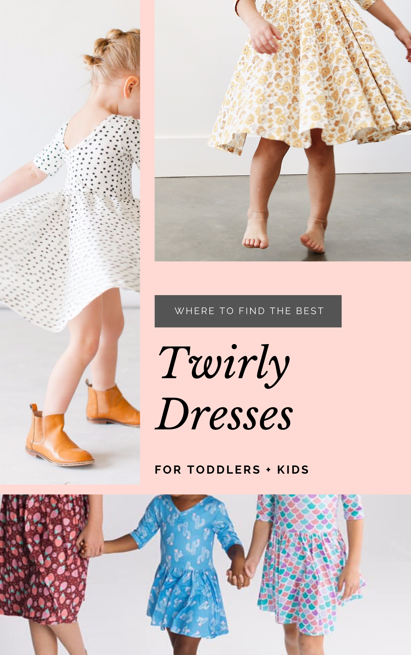 If you have a little girl who loves a great twirly dress, this post is for you! Sharing where to find the very best twirl dresses; a.k.a., skater dresses or swing dresses, for kids. | glitterinc.com | @glitterinc