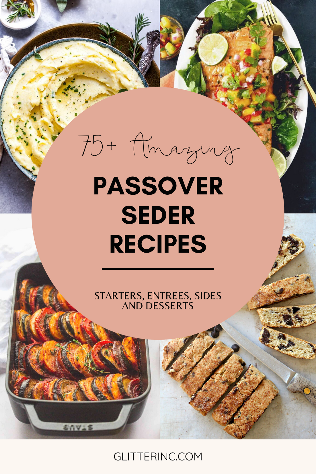 More than 100+ amazing recipes for the Jewish holiday of Passover, including a bunch of go-to, favorite Pesach recipes to make for Seder dinner, including appetizers, side dishes, and desserts, with plenty that work as great leftovers for the holiday week to follow. | glitterinc.com | @glitterinc