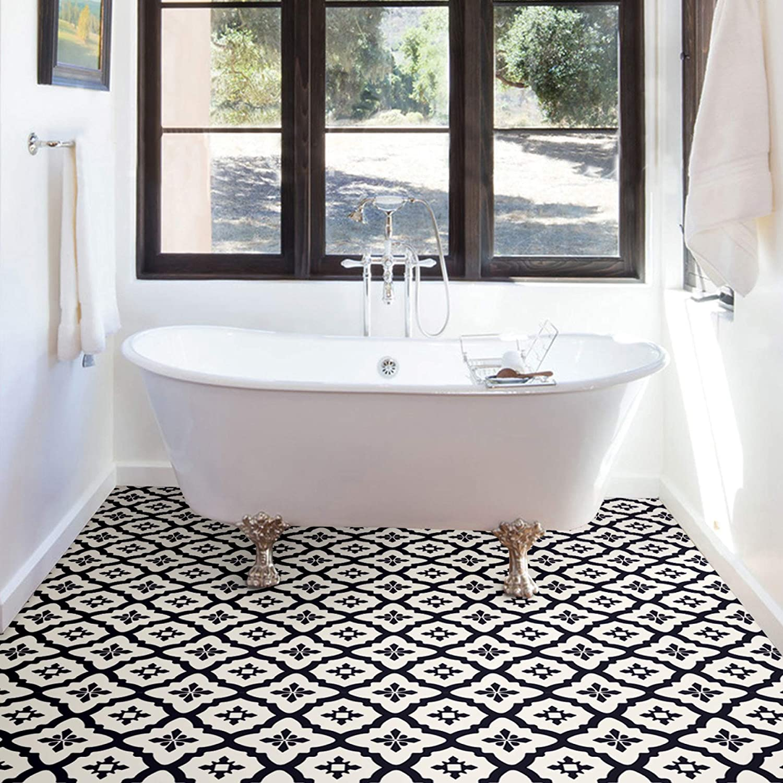 WEEKLY FINDS, Including this FloorPops Comet Peel & Stick Tiles Floor Decals in Black
