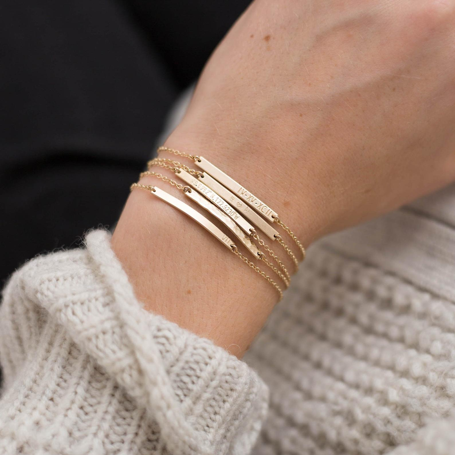 WEEKLY FINDS // GLDN Personalized Bar Bracelet