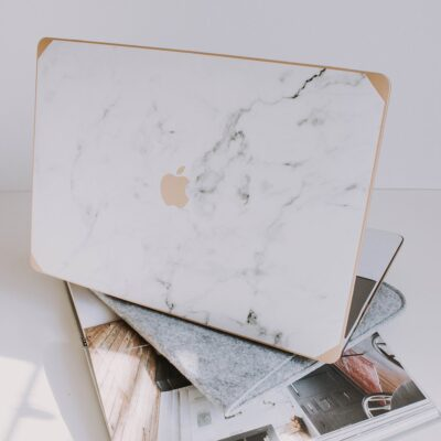 Gold and White Marble Laptop Case.jpg