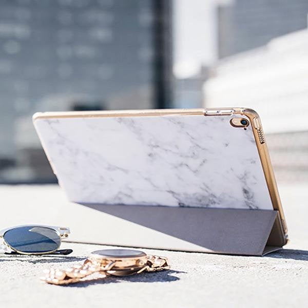 Automatic Bubble Machine on Amazon | Gold and White Marble iPad Case