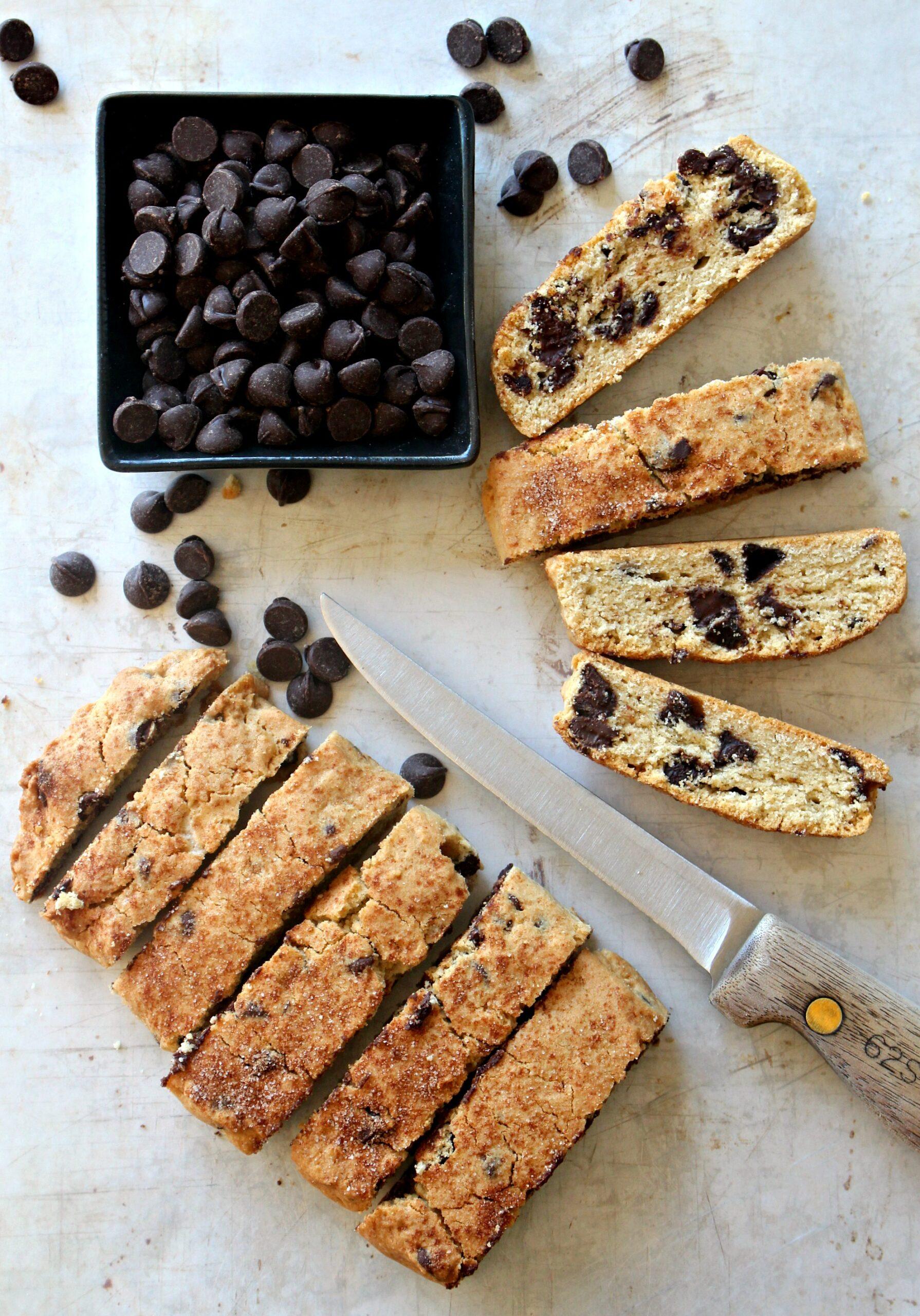 Passover Chocolate Chip Mandel Bread