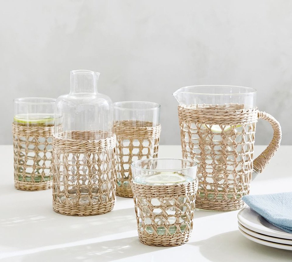 WEEKLY FINDS // Pottery Barn Cane Drinkware Collection