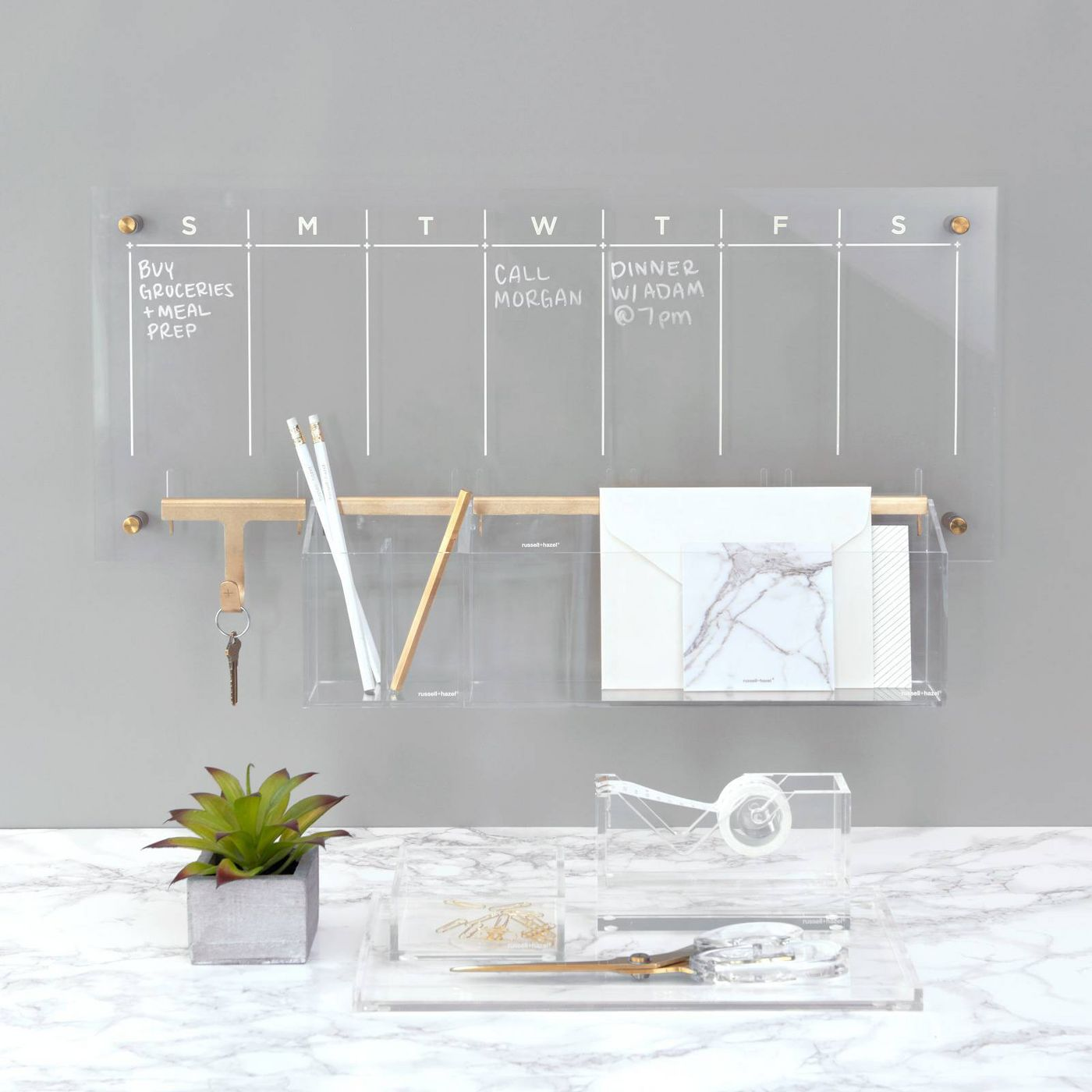 WEEKLY FINDS, Including this RUSSELL + HAZEL Acrylic Weekly Wall Calendar from Target