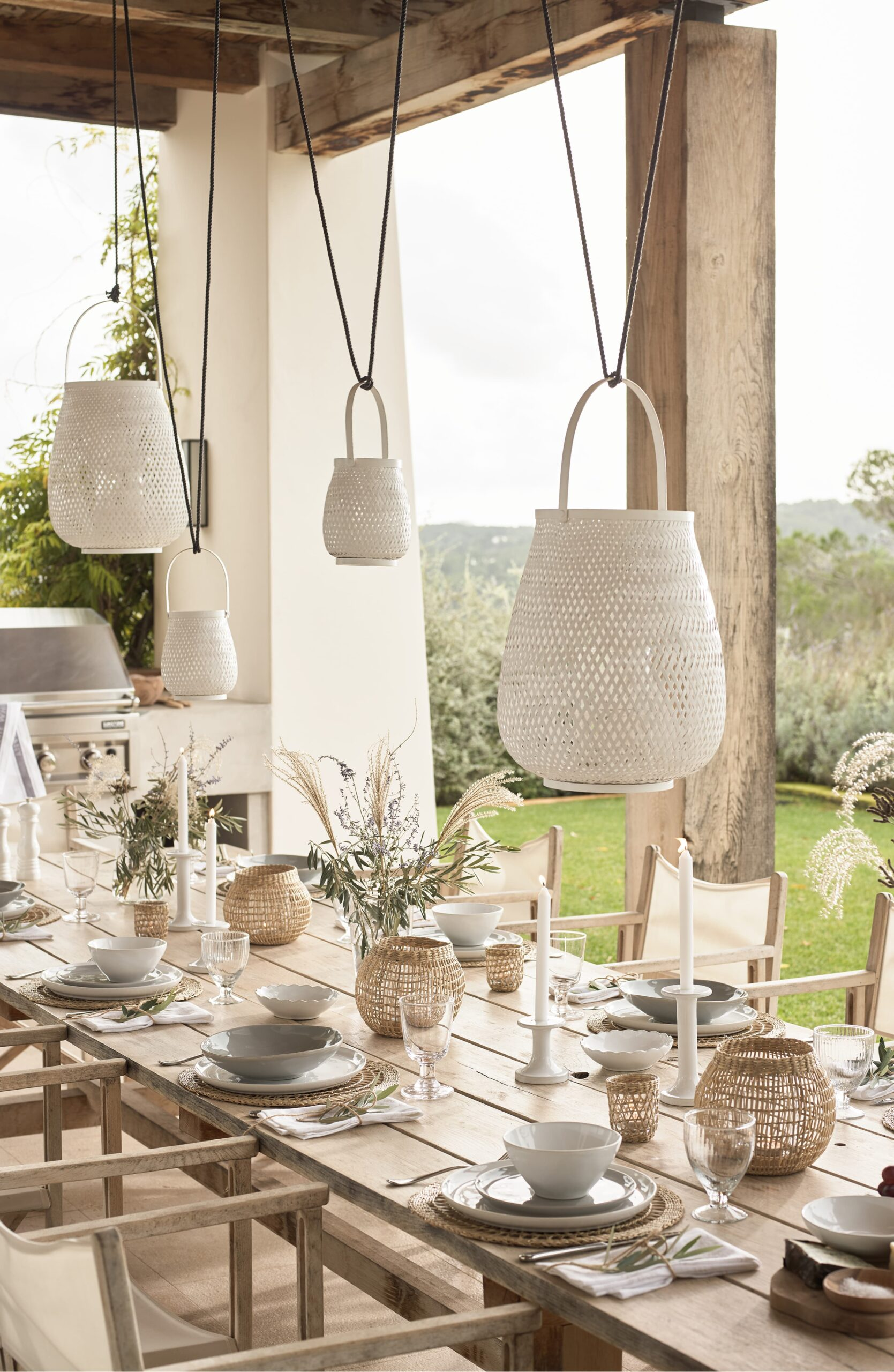 WEEKLY FINDS // The White Company Medium White Bamboo Lantern
