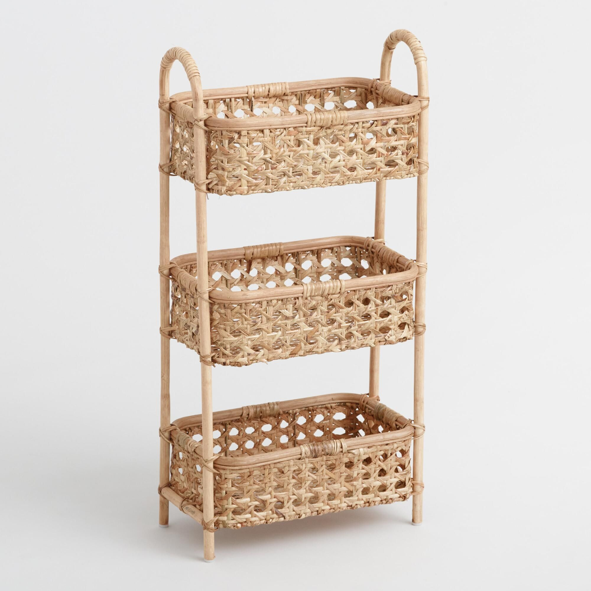 Automatic Bubble Machine on Amazon + World Market Natural Rattan Cane 3 Tier Farrah Storage Tower