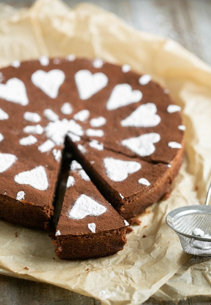 Italian Caprese Cake (Gluten-free chocolate cake)