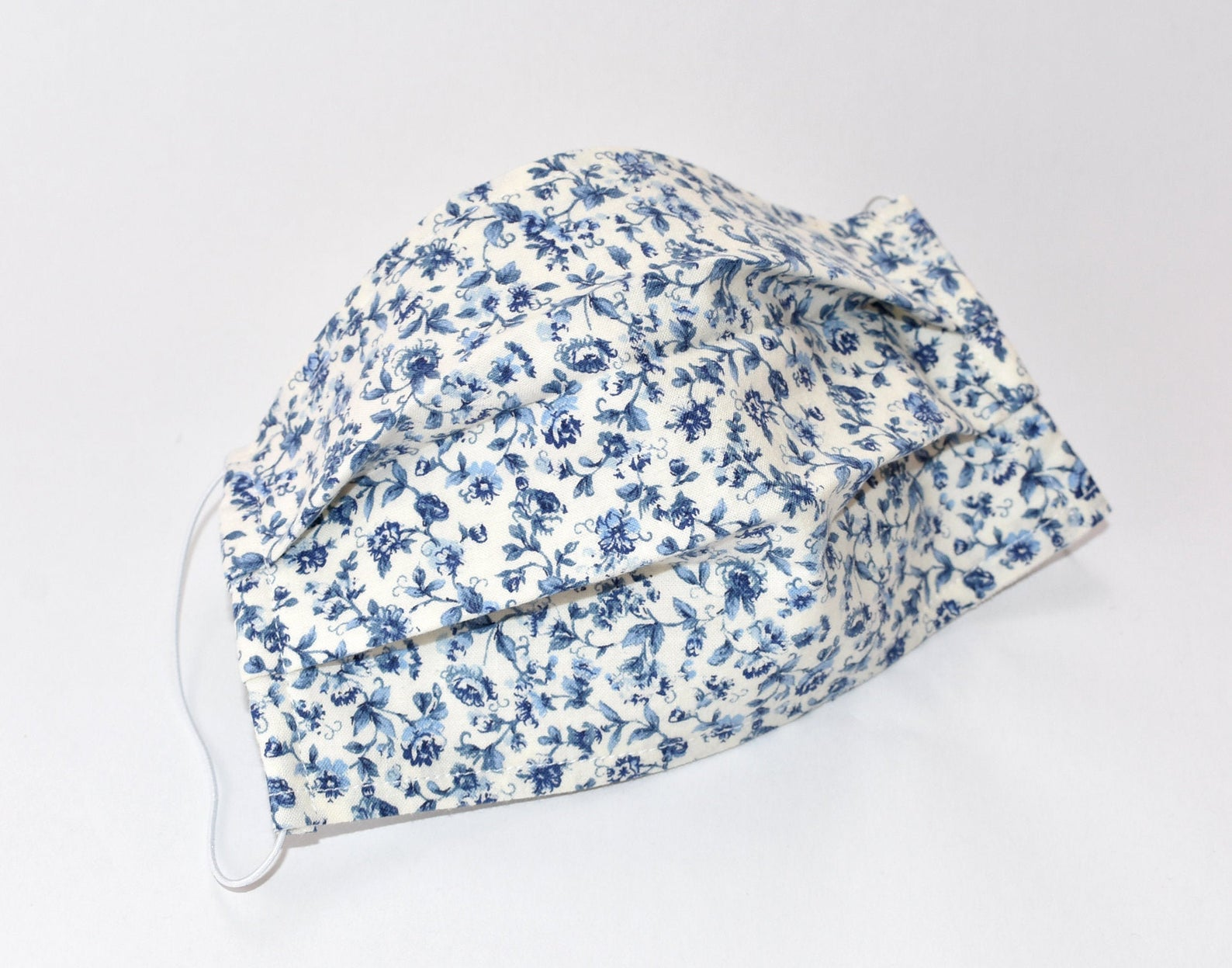 Naybees Nest Blue Flower Face Mask