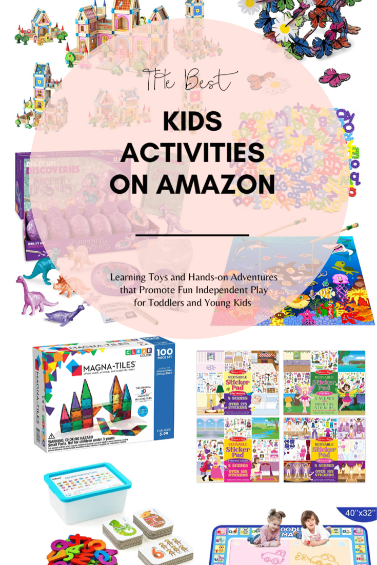 Need a few easy kids activity ideas? These are our favorite independent kids activities, learning toys, and hands-on adventures from Amazon that promote fun independent play for toddlers and young kids. // @glitterinclexi // GLITTERINC.COM