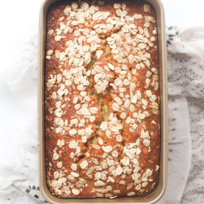 Easy and Delicious Oatmeal Banana Bread