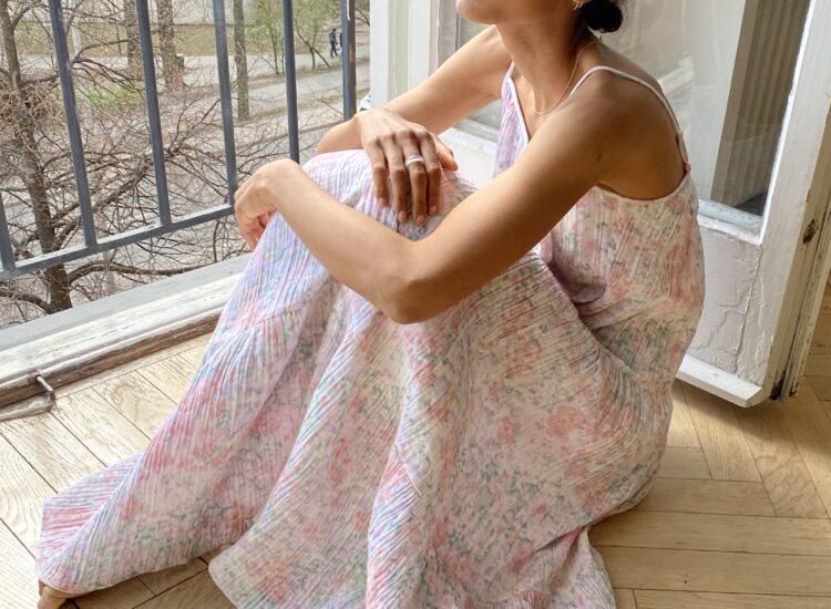 Target skincare brand H&M Crinkled Cotton Dress