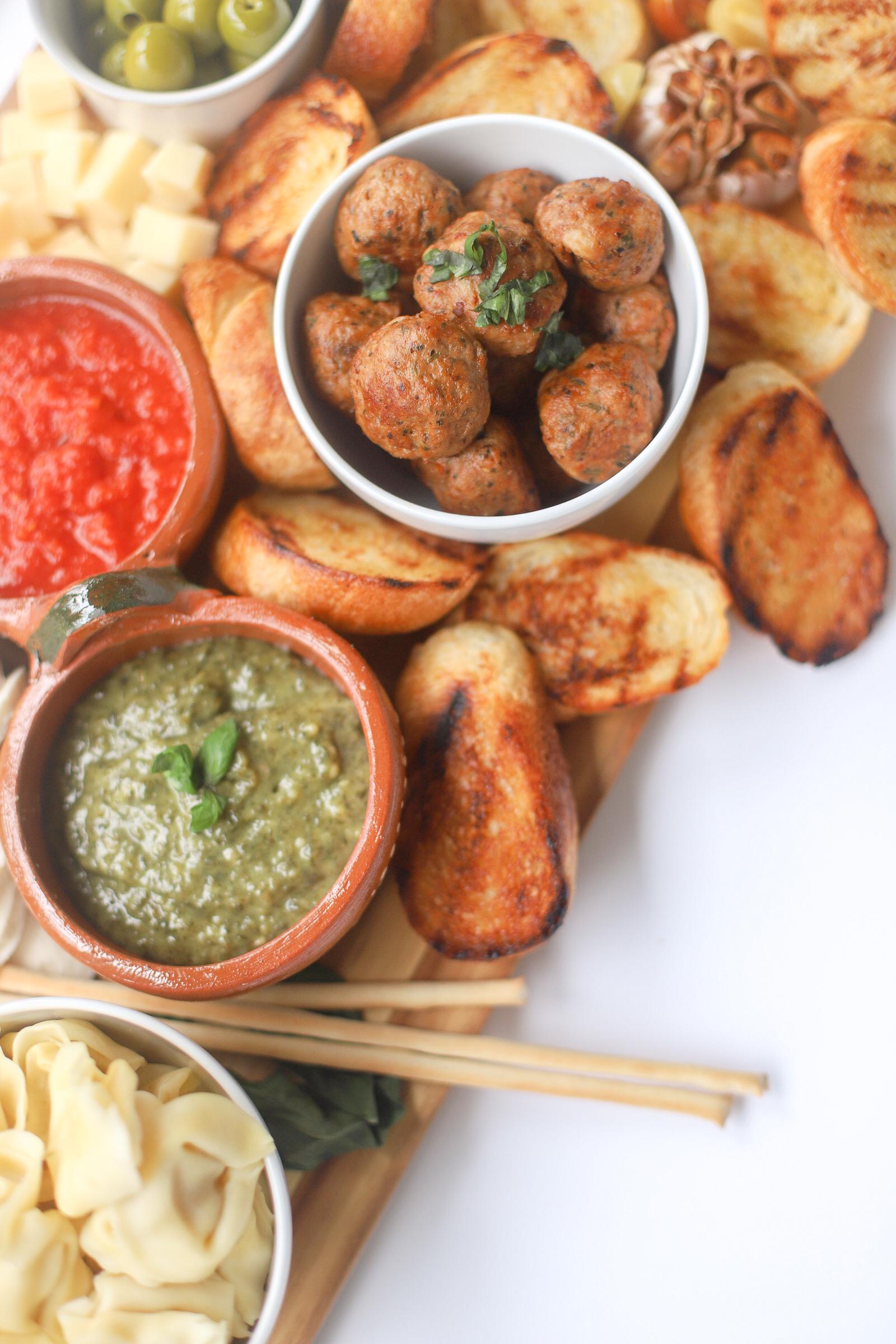 Italian Family Dinner Charcuterie Board