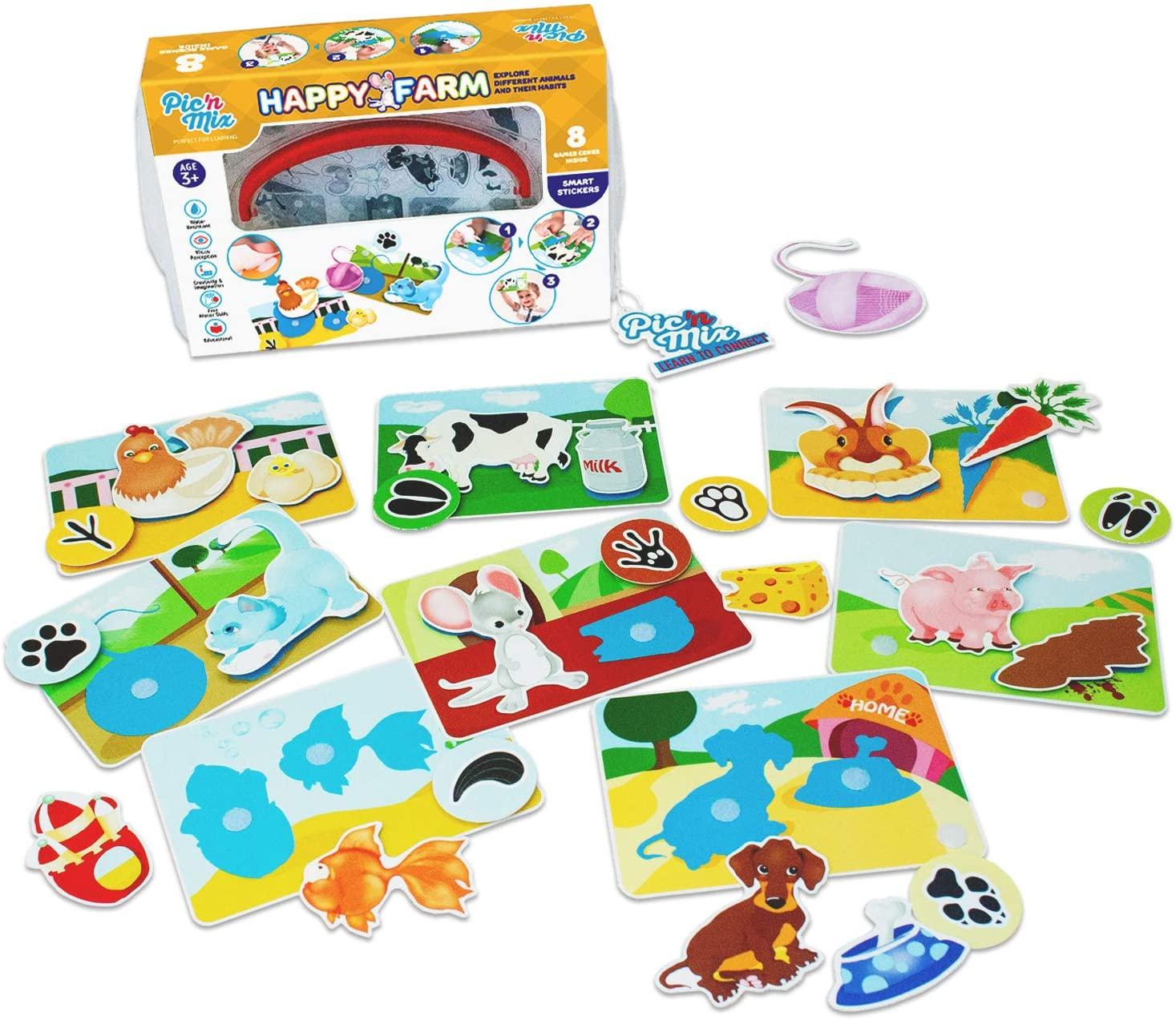 Pic N Mix Toddler Board Games Happy Farm Preschool