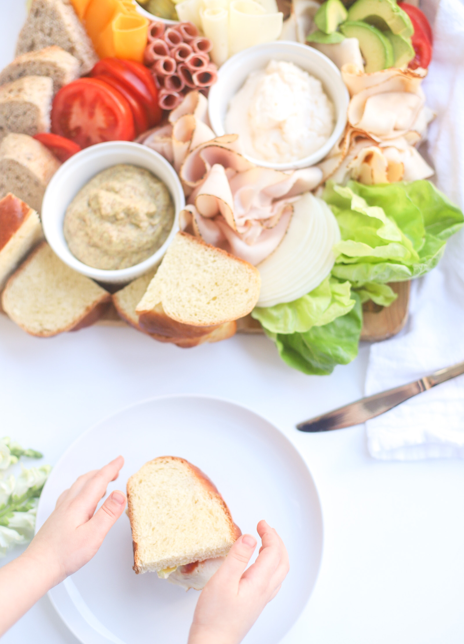 Sandwich Charcuterie Board - Summer Grazing Board - Dinner - Lunch - GLITTERINC.COM - @glitterinclexi