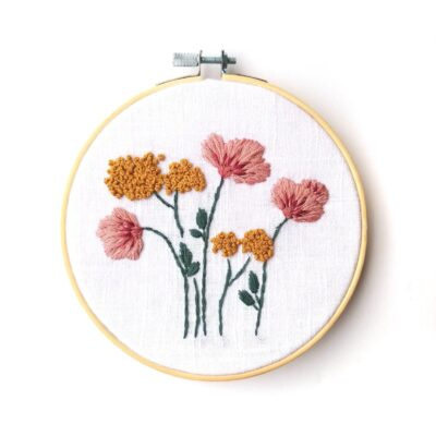 Wild Poppies Embroidery Kit with Embroidery Pattern and Embroidery Supplies