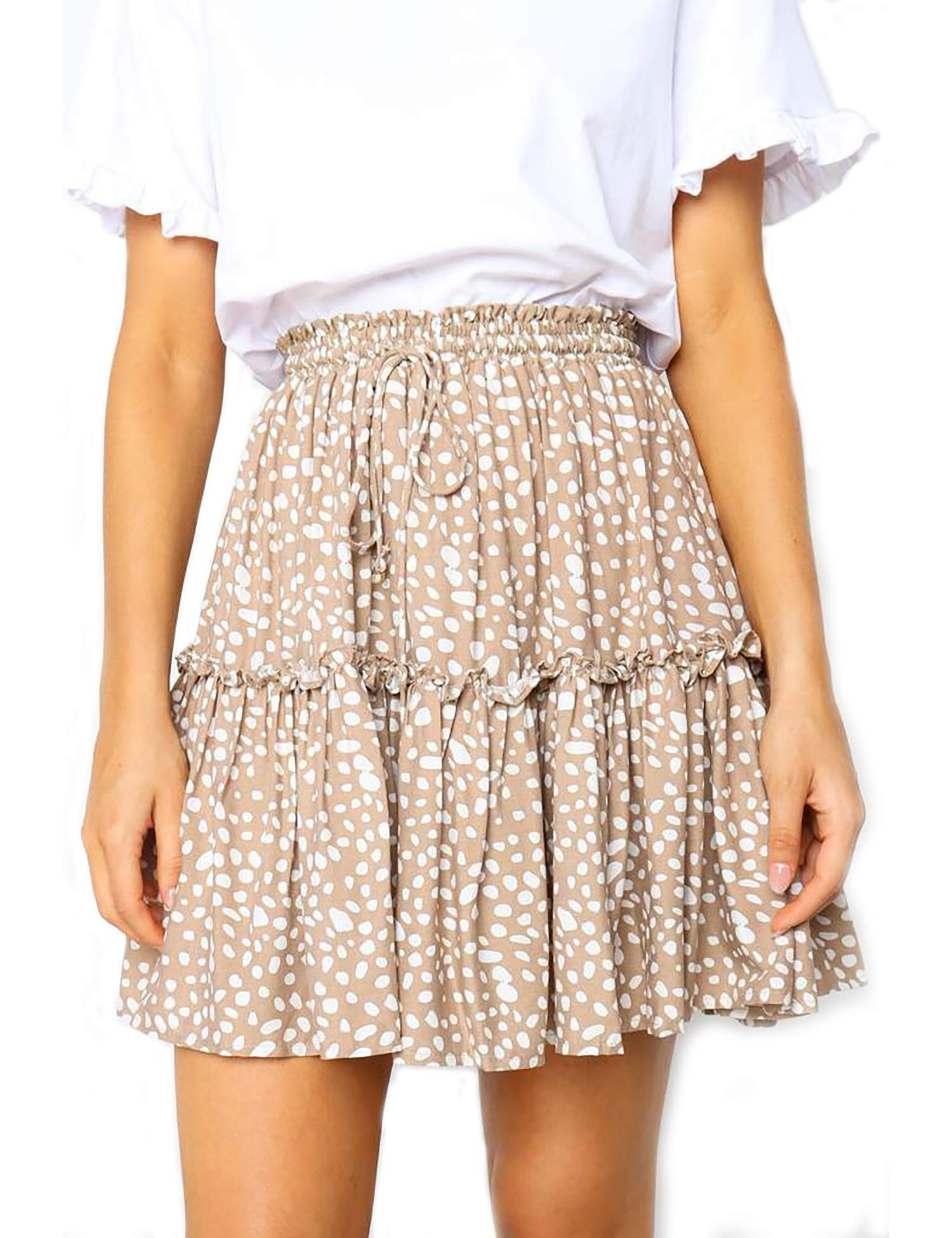 Relipop Women's Flared Short Skirt Polka Dot + The Perfume You Will Want to Wear All Summer Long