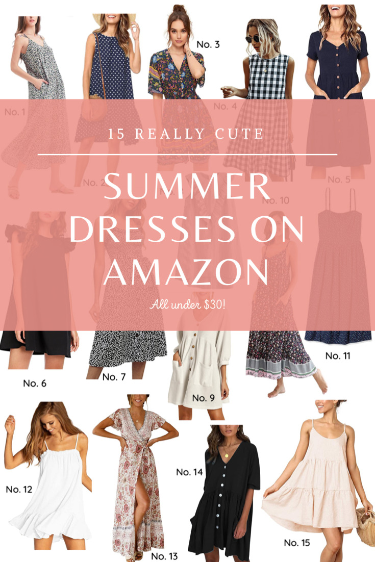Shop the summer's cutest, breezy dresses, all on Amazon and under $30. These dresses are really cute, affordable, and will get you through the hot weather in style. | @glitterinclexi | GLITTERINC.COM