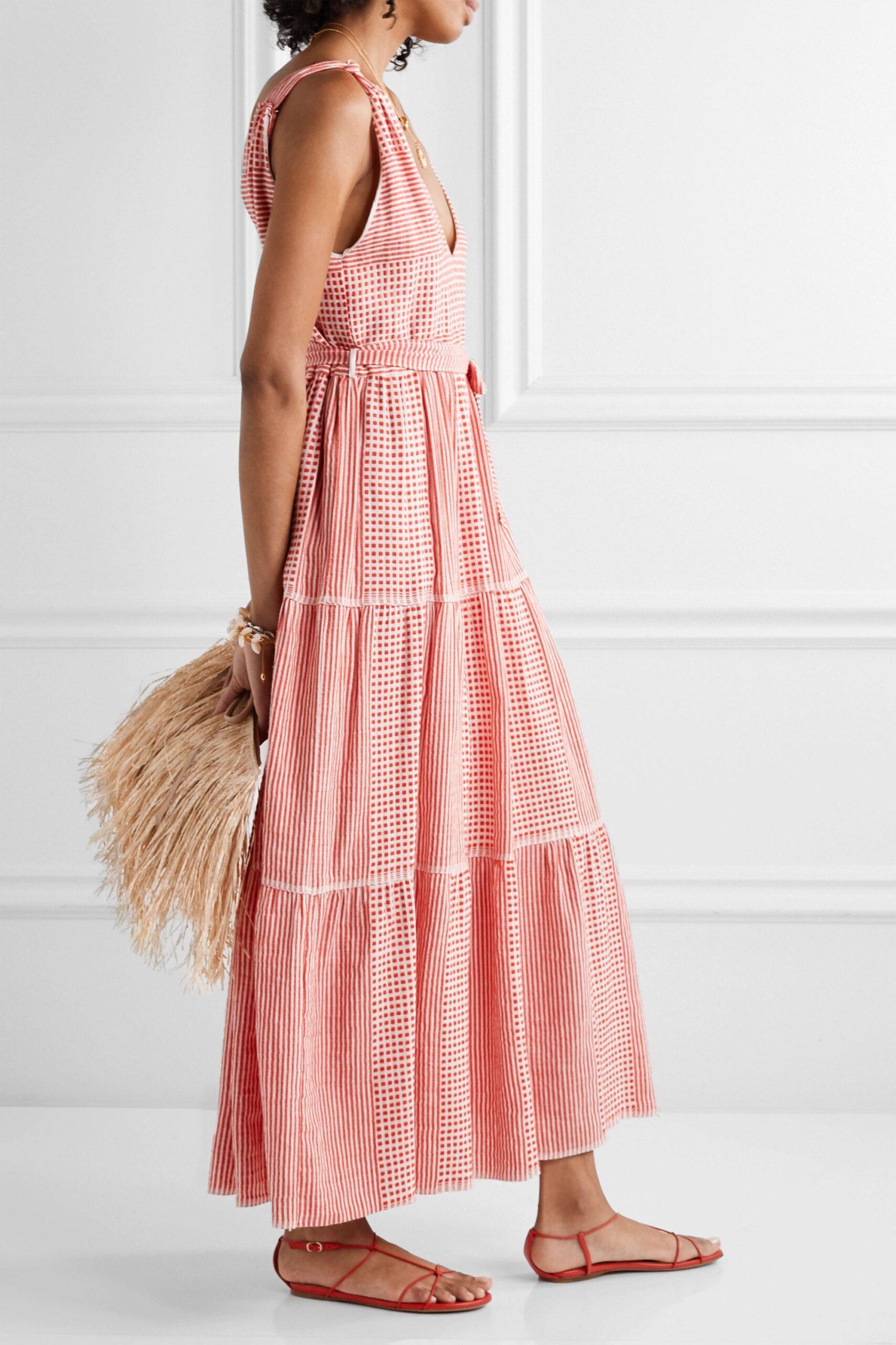 LemLem Cotton Gauze Maxi Dress