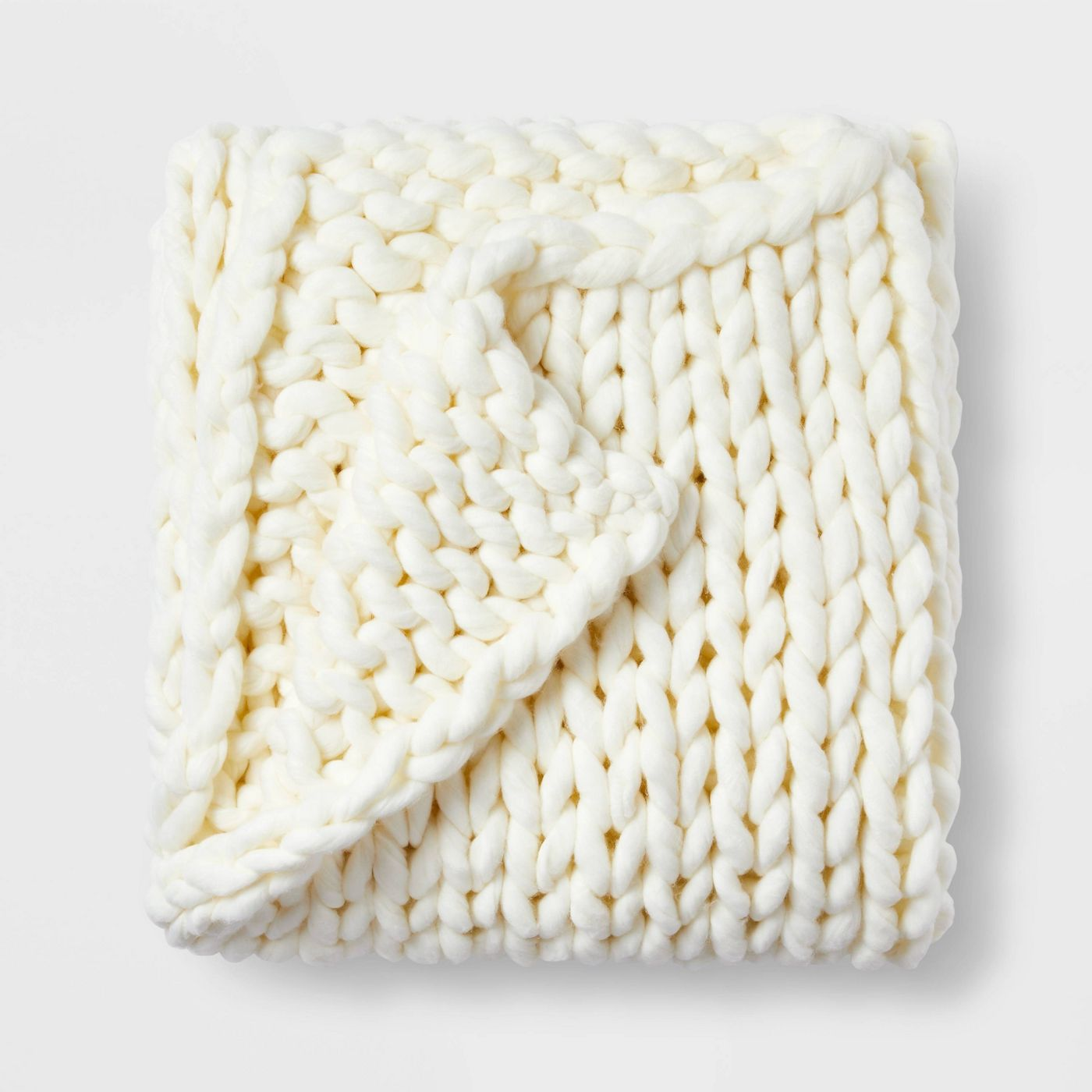 Casaluna Oversized Chunky Hand Knit Bed Throw