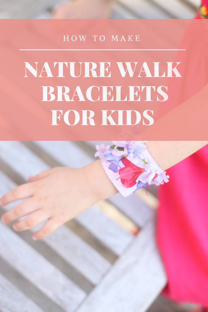 These super simple DIY kids nature bracelets are the perfect fun activity to do on your next nature walk. All you'll need is duct tape, flowers, and nature! GLITTERINC.COM