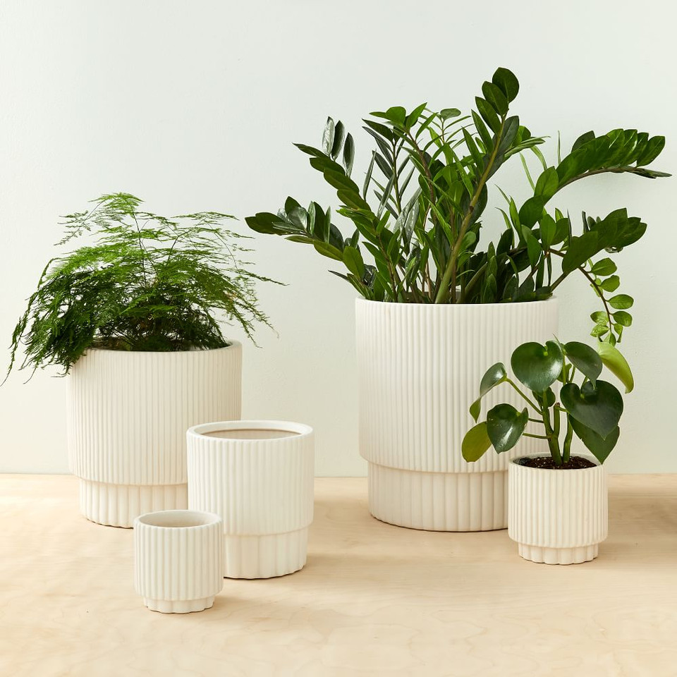West Elm Fluted Planters
