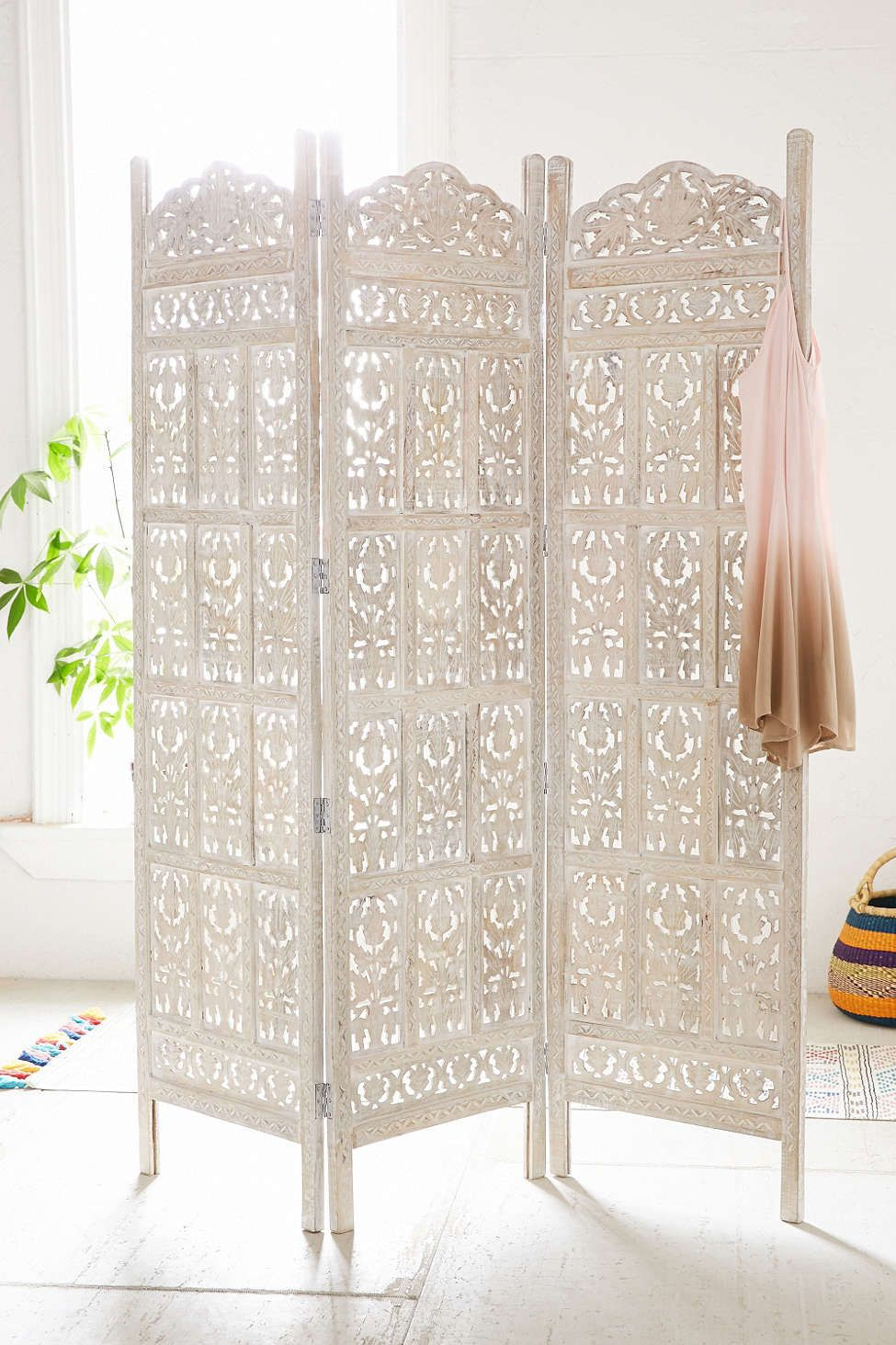 Urban outfitters Amber Carved Wood Room Divider Screen + The Perfume You Will Want to Wear All Summer Long