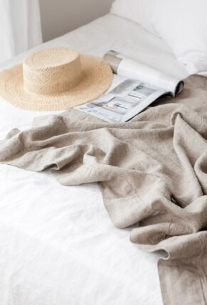 Affordable Home Décor to Freshen Up Your Space for Summer // Cover Image: Rough Linen Orkney Linen Summer Cover