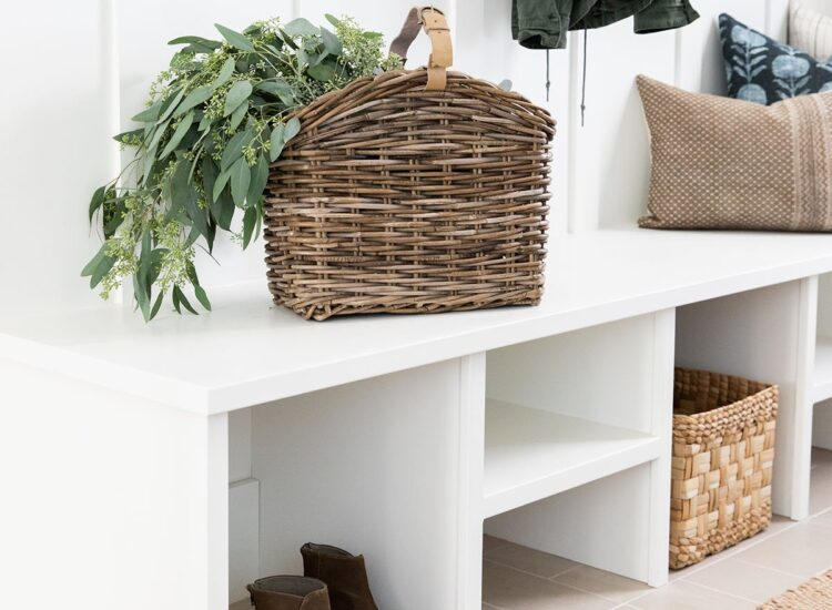 Little Love Notes // Moving Day // MCGEE & CO. RATTAN MAGAZINE BASKET