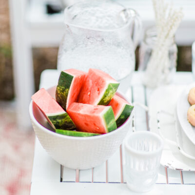 Watermelon - Summer Patio - Fourth of July - Holiday Weekend - GLITTERINC.COM