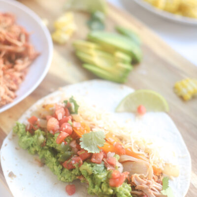Crockpot Chicken Tacos - Instant Pot Salsa Chicken Recipe - Easy Weeknight Family Dinner - GLITTERINC.COM