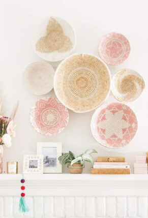Lauren Conrad x The Little Market Woven Bowls - Wall Display