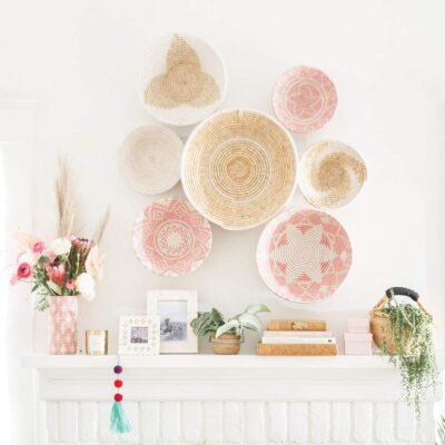 Lauren Conrad x The Little Market Woven Bowls - Wall Display