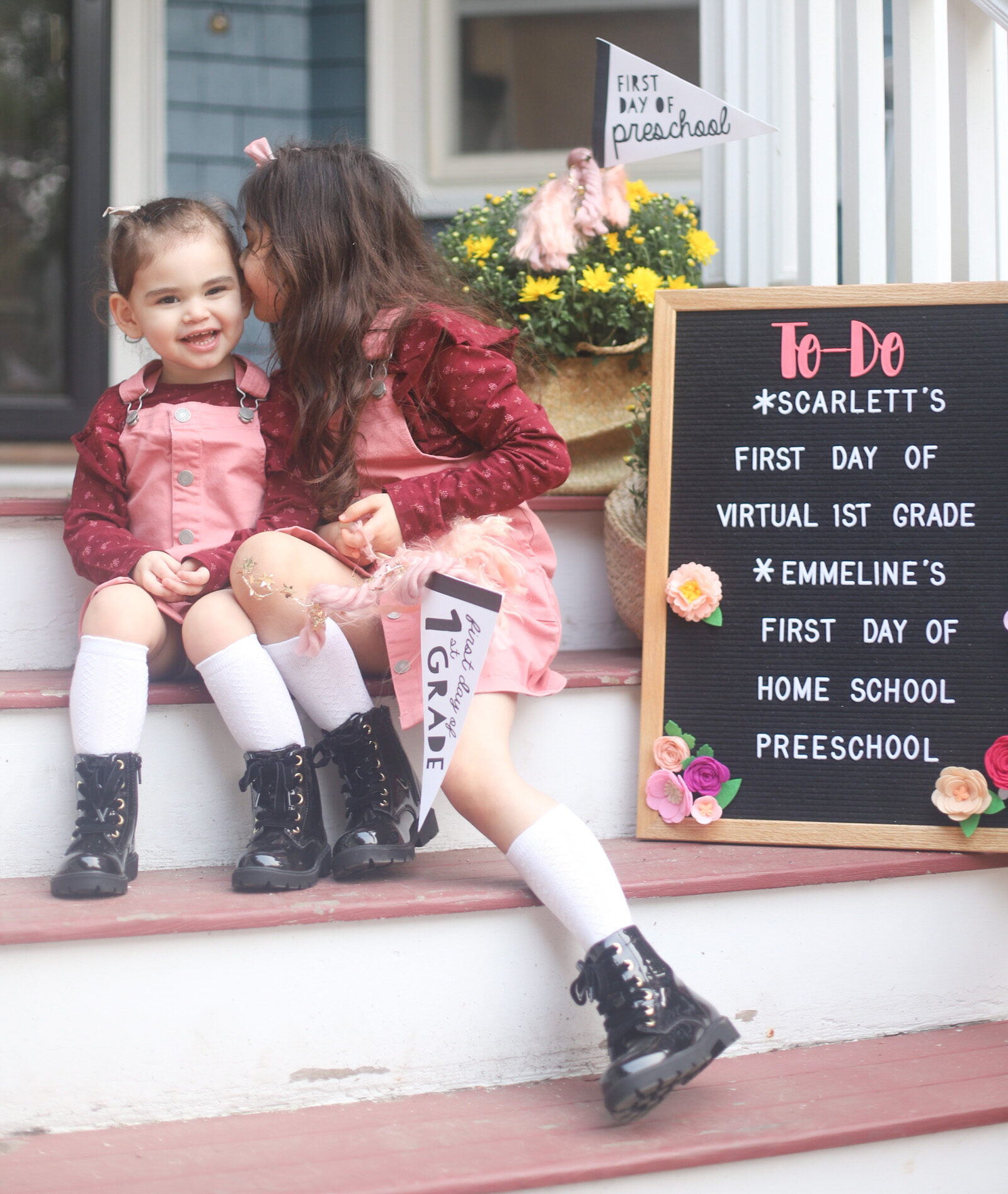 The Girls' First Day of School (At Home) + What We Are Doing For School This Fall