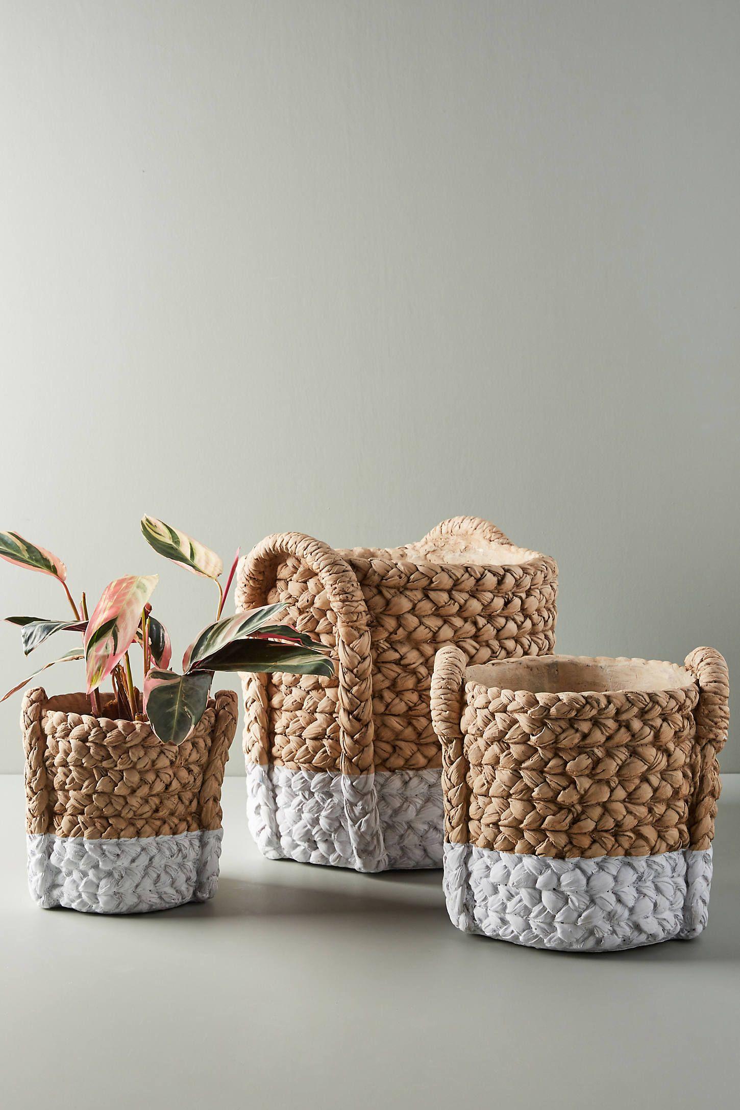 Weekly Finds +  Anthropologie Color Dip Pot Baskets