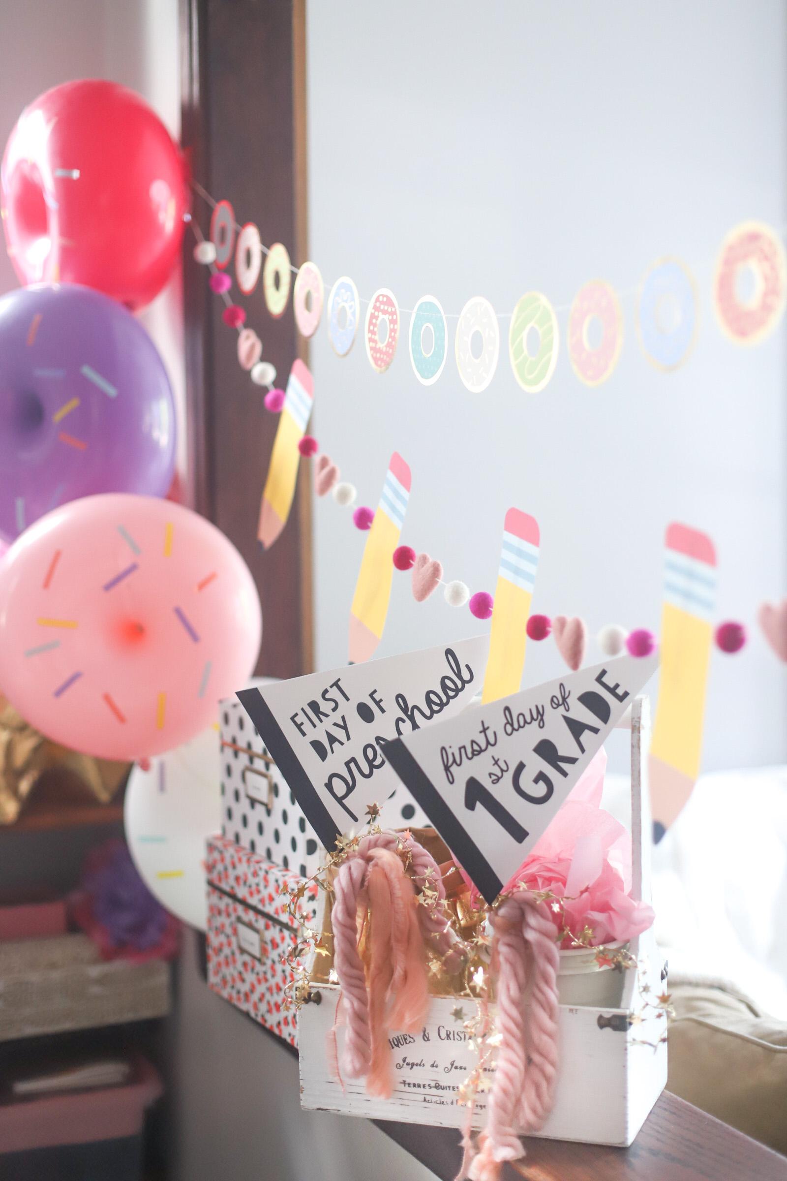 Back to School Donut Party // First Day // Celebration | @glitterinclexi | GLITTERINC.COM