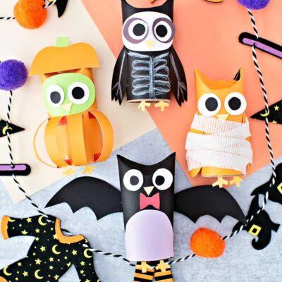 Halloween Paper Tube Owls