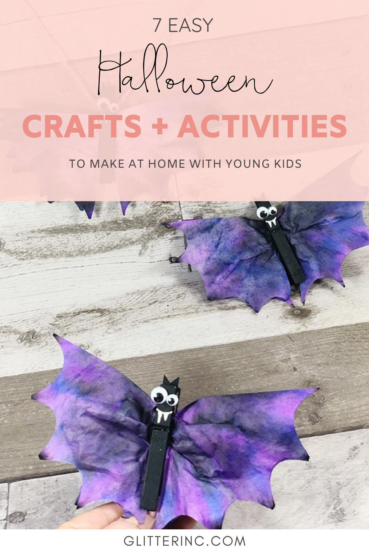 Get crafty this October and create something special with one of these 7 easy Halloween crafts and hands-on activities for toddlers and young kids! | @glitterinclexi | GLITTERINC.COM