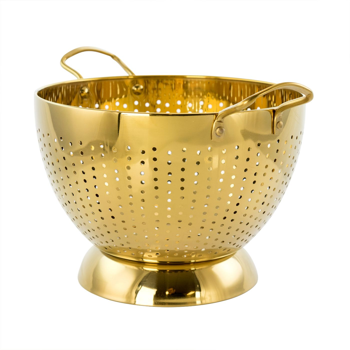WEEKLY FINDS + Gibson Home Rose Hue 5 Quart Stainless Steel Colander in Gold
