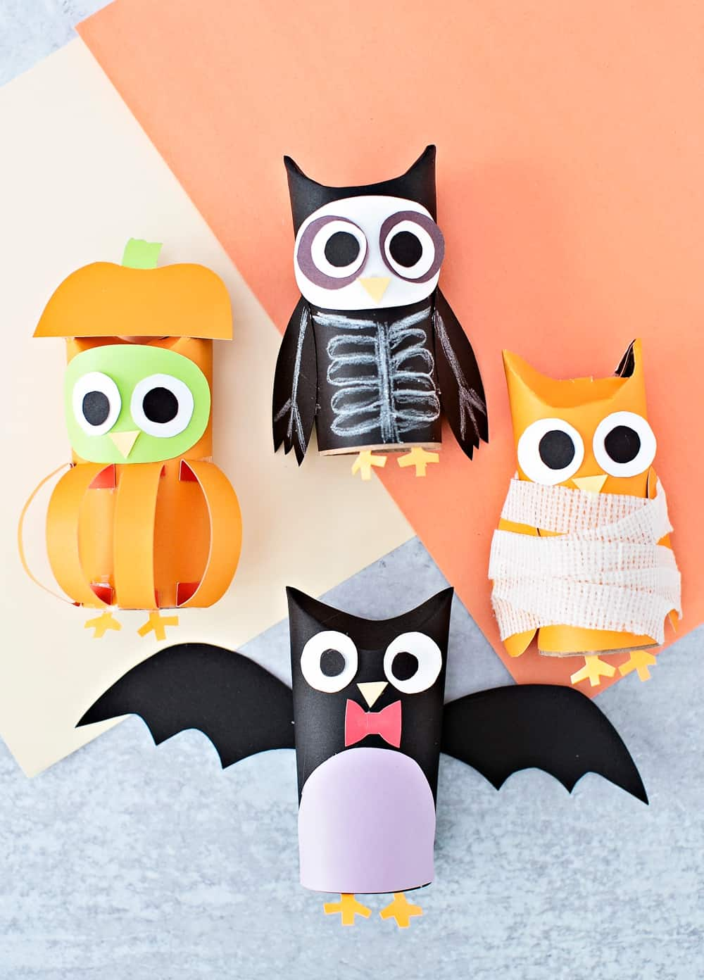 Halloween Paper Tube Owls