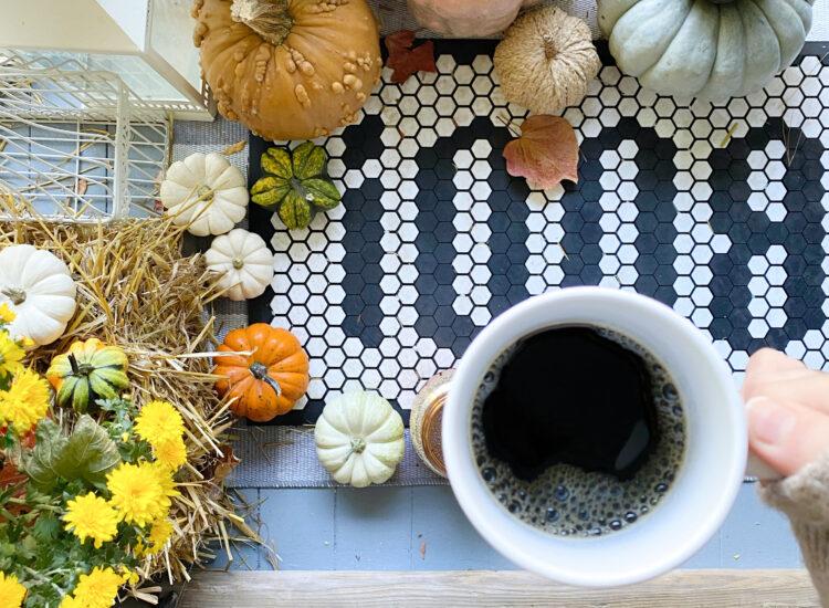 Little Love Notes - Fall Front Porch - Boo Tile Mat - Halloween - Pumpkins - GLITTERINC.COM