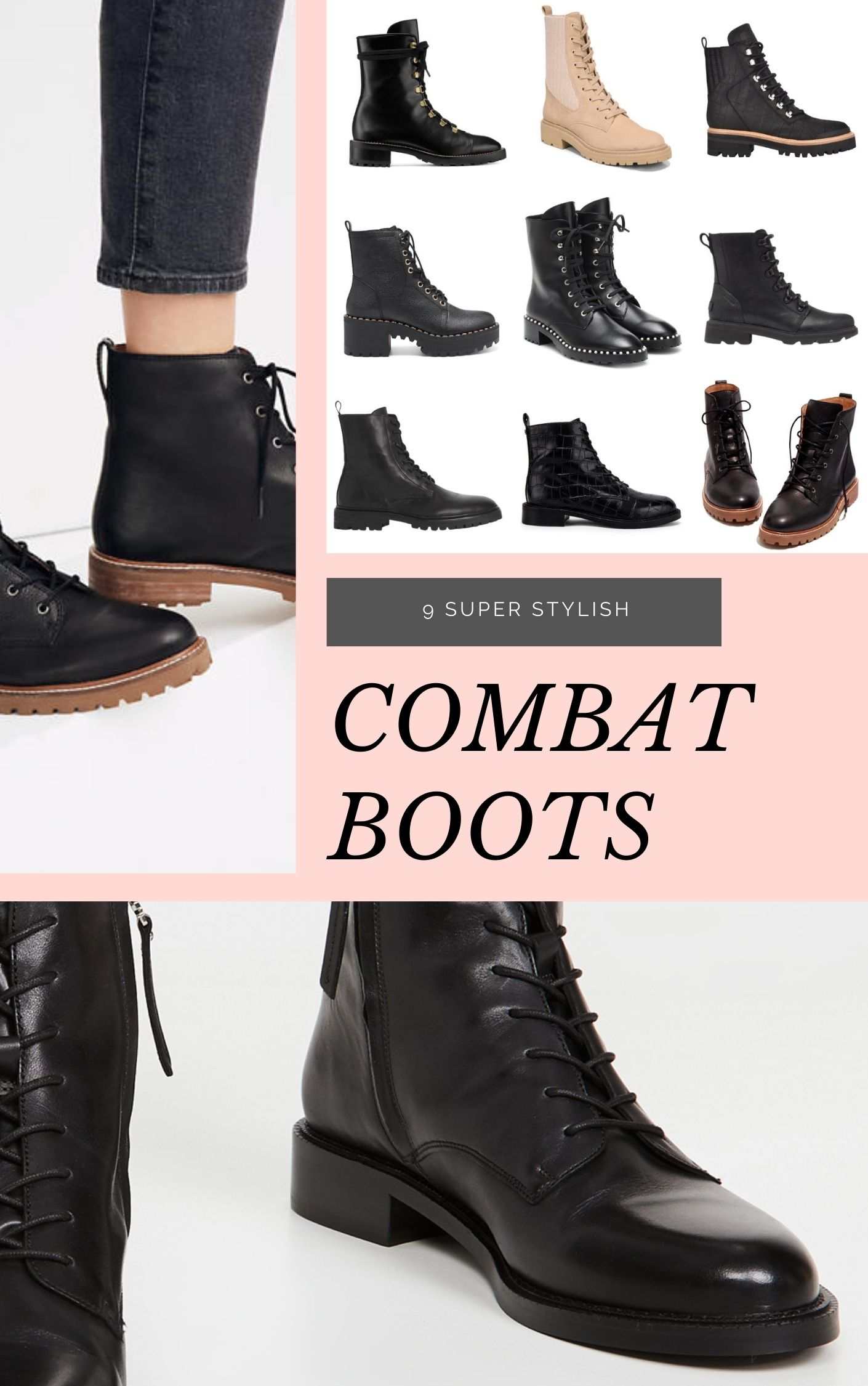9 Upgraded and Chic Combat Boots that Will Stand the Test of Time // GLITTERINC.COM