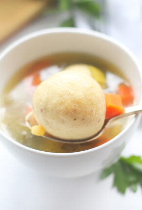 Homemade Matzo Ball Soup - Our Family Favorite Classic Jewish Chicken Stock with the Best Matzoh Balls | @glitterinclexi | GLITTERINC.COM