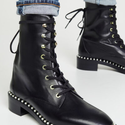 9 Upgraded and Chic Combat Boots that Will Stand the Test of Time // Stuart Weitzman Sondra Pearl Combat Boots