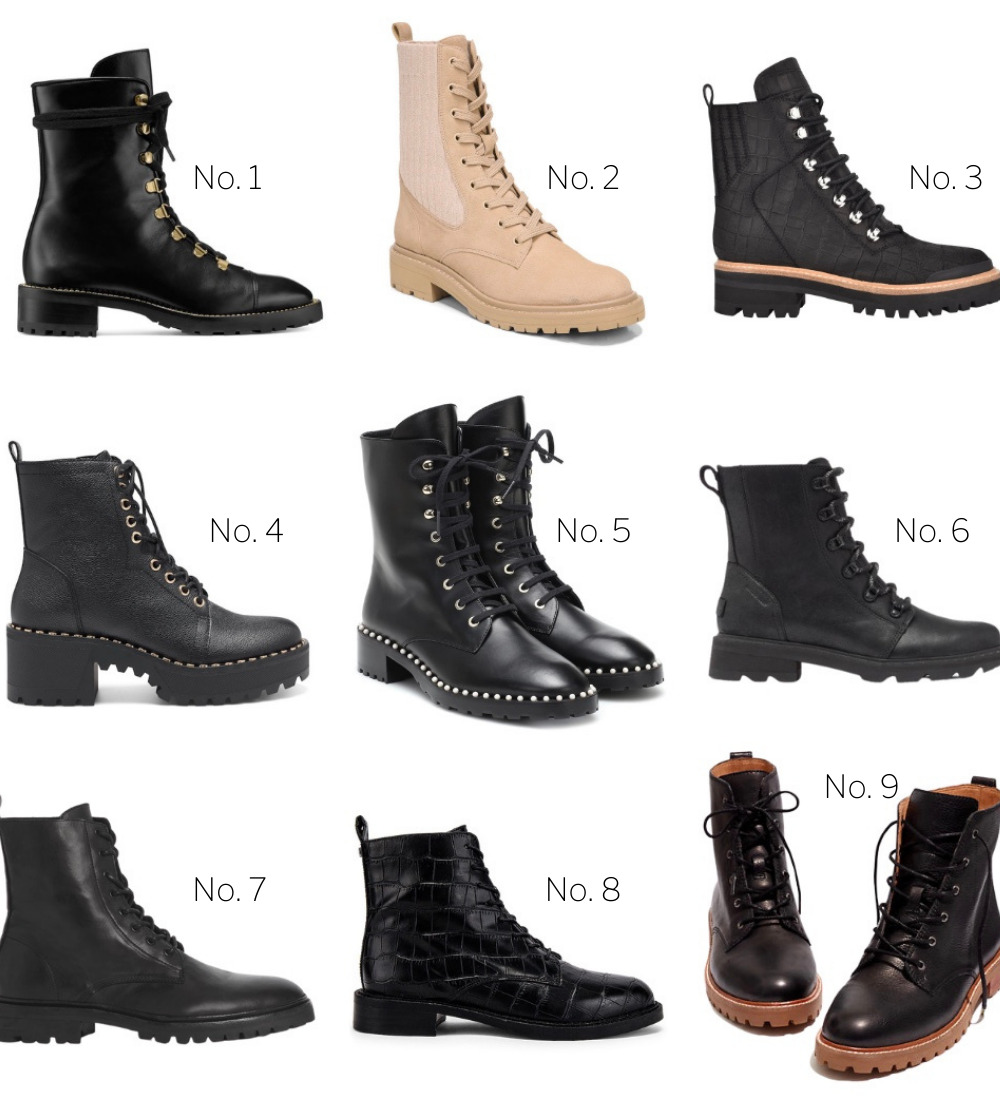 9 Chic Combat Boots to Add to Your Closet // GLITTERINC.COM