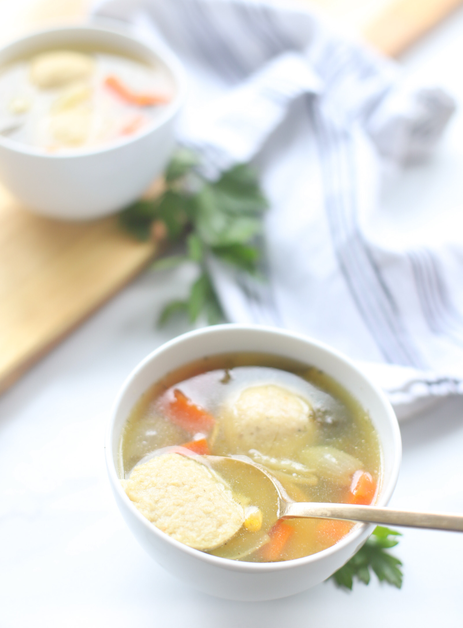 Bubby's Homemade Matzo Ball Soup - Our Family Favorite Classic Jewish Chicken Stock with the Best Matzoh Balls | @glitterinclexi | GLITTERINC.COM