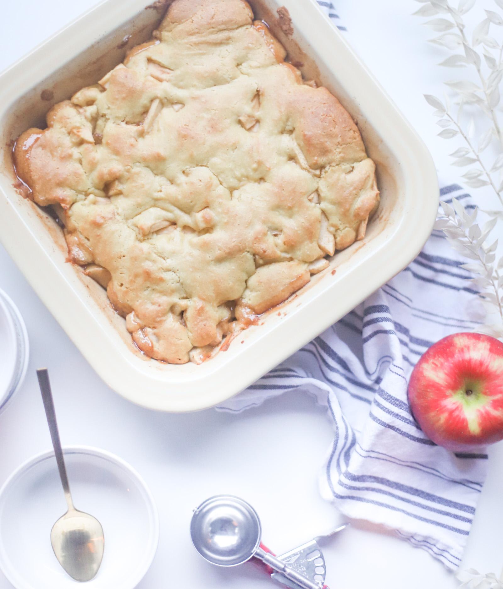 The Best Ever Healthier Apple Cobbler