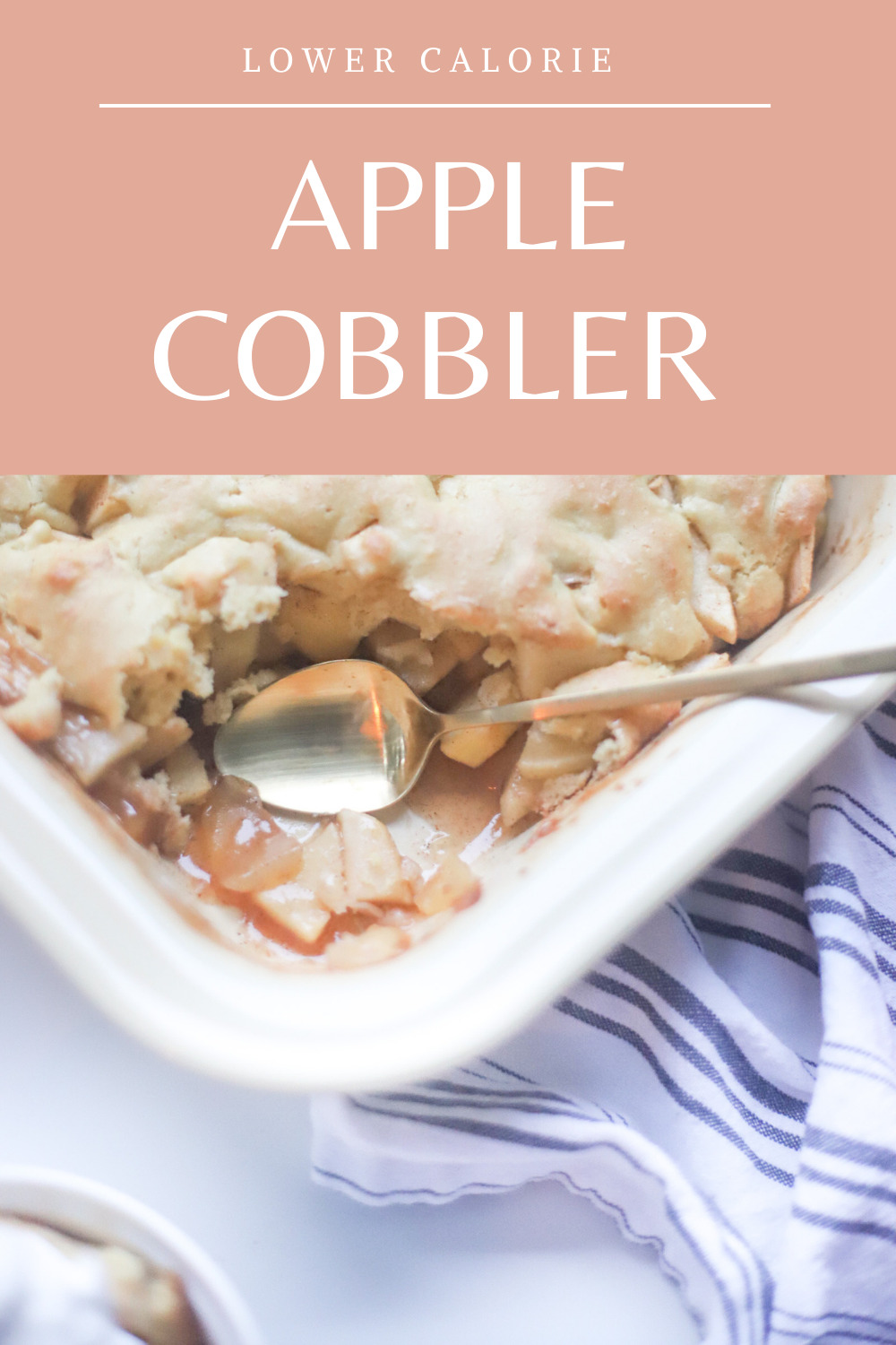 This deceptively delicious apple cobbler is full of cinnamon, fragrant apples, and a velvety caramel sauce, topped with the most heavenly dough, and yet, is actually lower calorie than a traditional cobbler and can also be made dairy-free! Click through for the fall recipe.   @glitterinclexi   GLITTERINC.COM