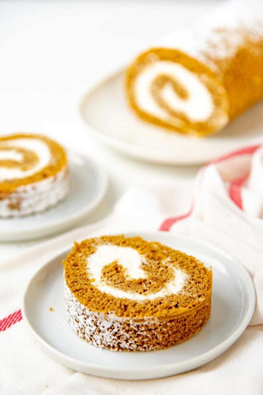 Fluffy Pumpkin Swiss Roll (Pumpkin Roll)